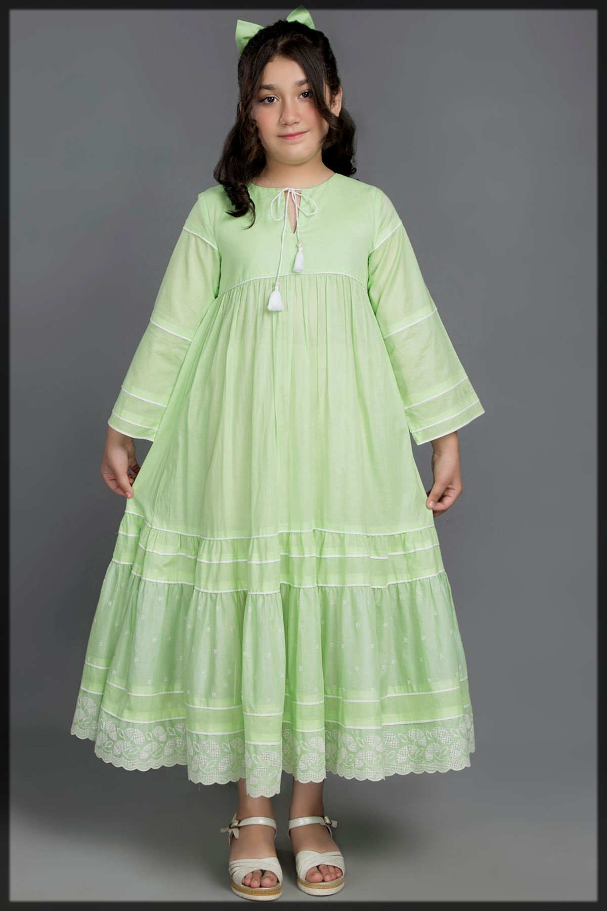 appealing frock for young girls by kayseria