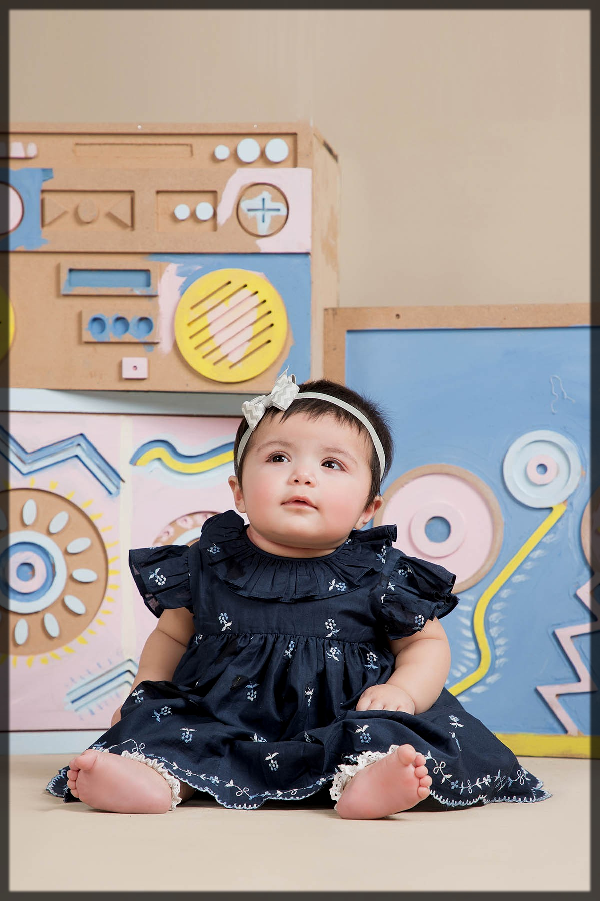 black summer outfit for baby girl