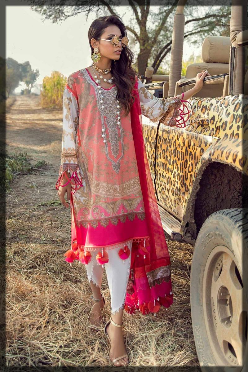 charming pink lawn dress