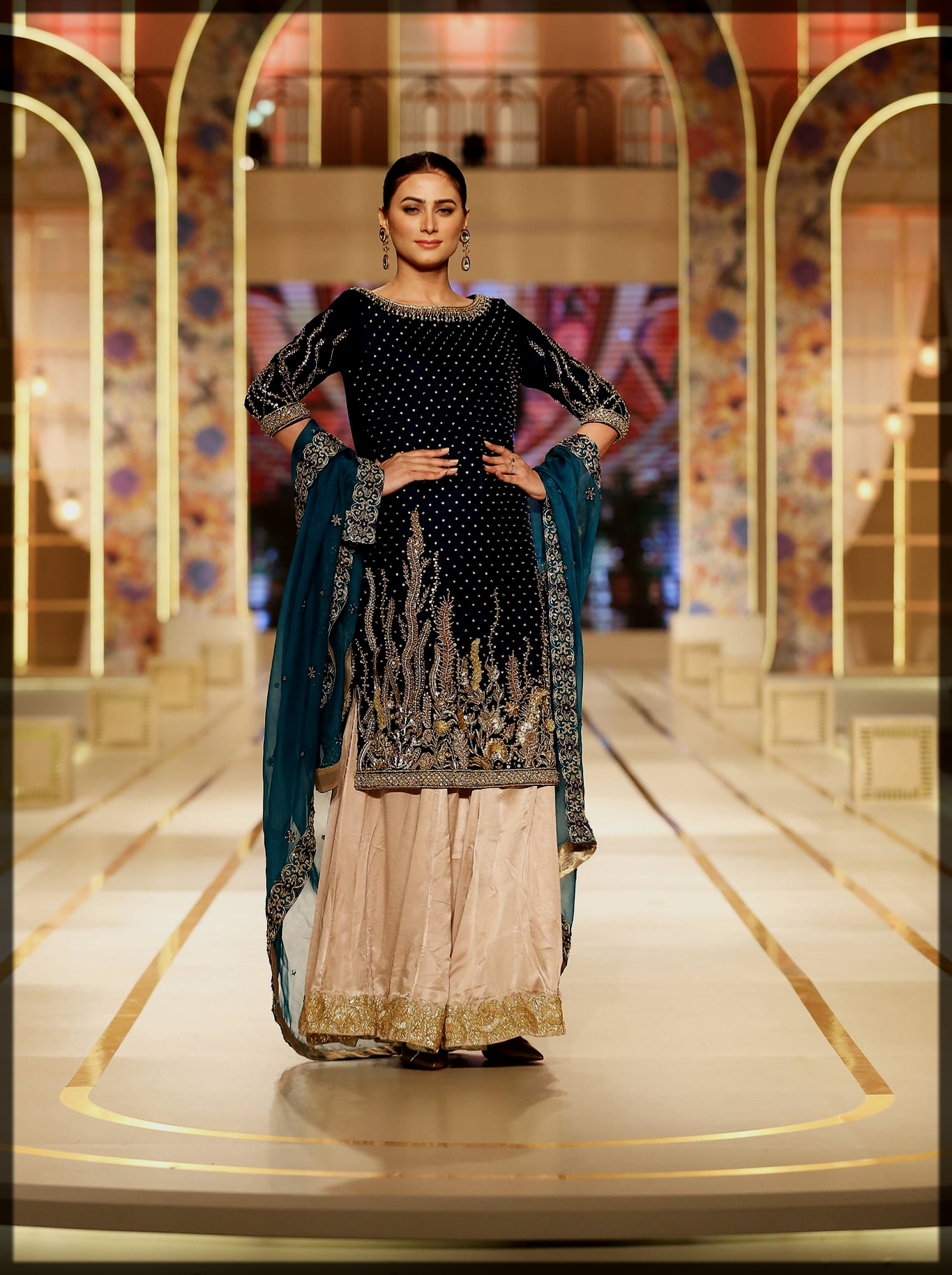 classy madiha bridal couture week collection