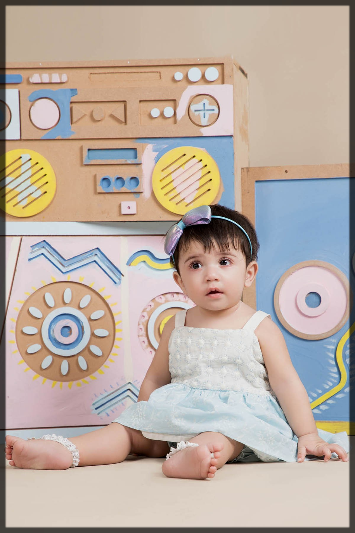 cotton summer outfit for baby girl