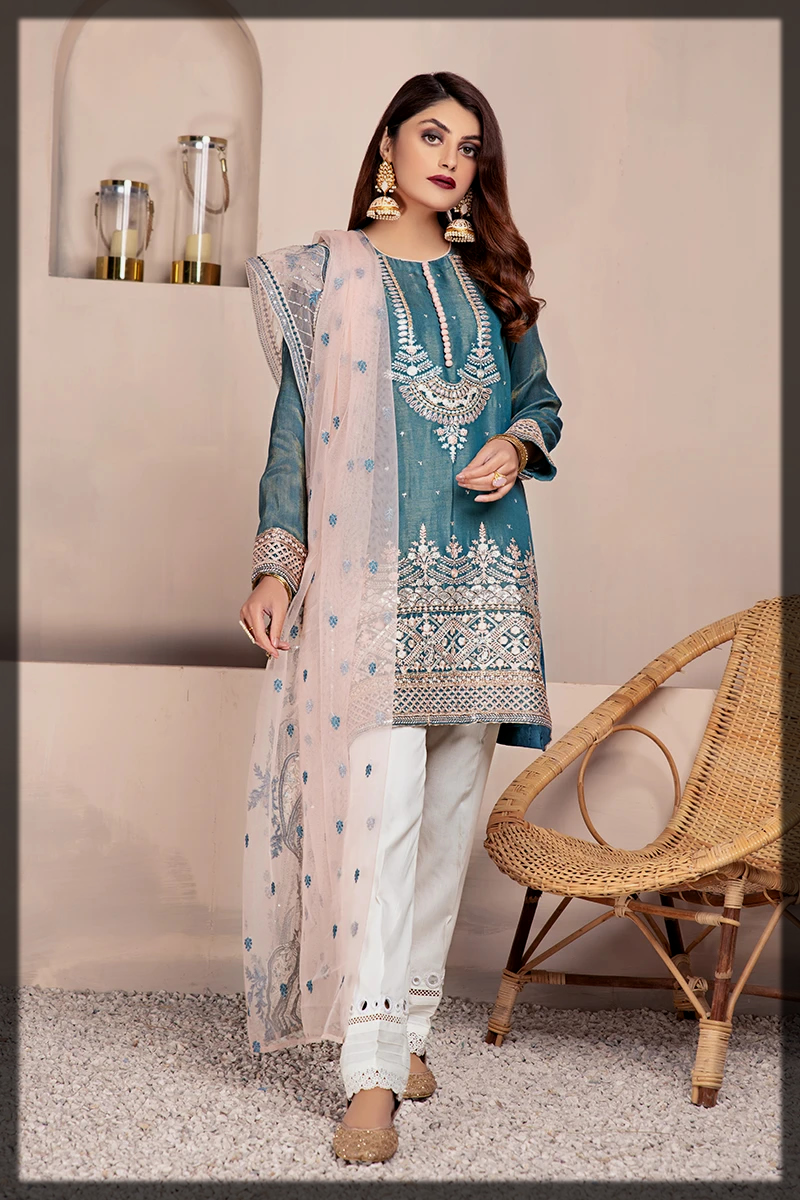 cross stitch summer luxury suit for women