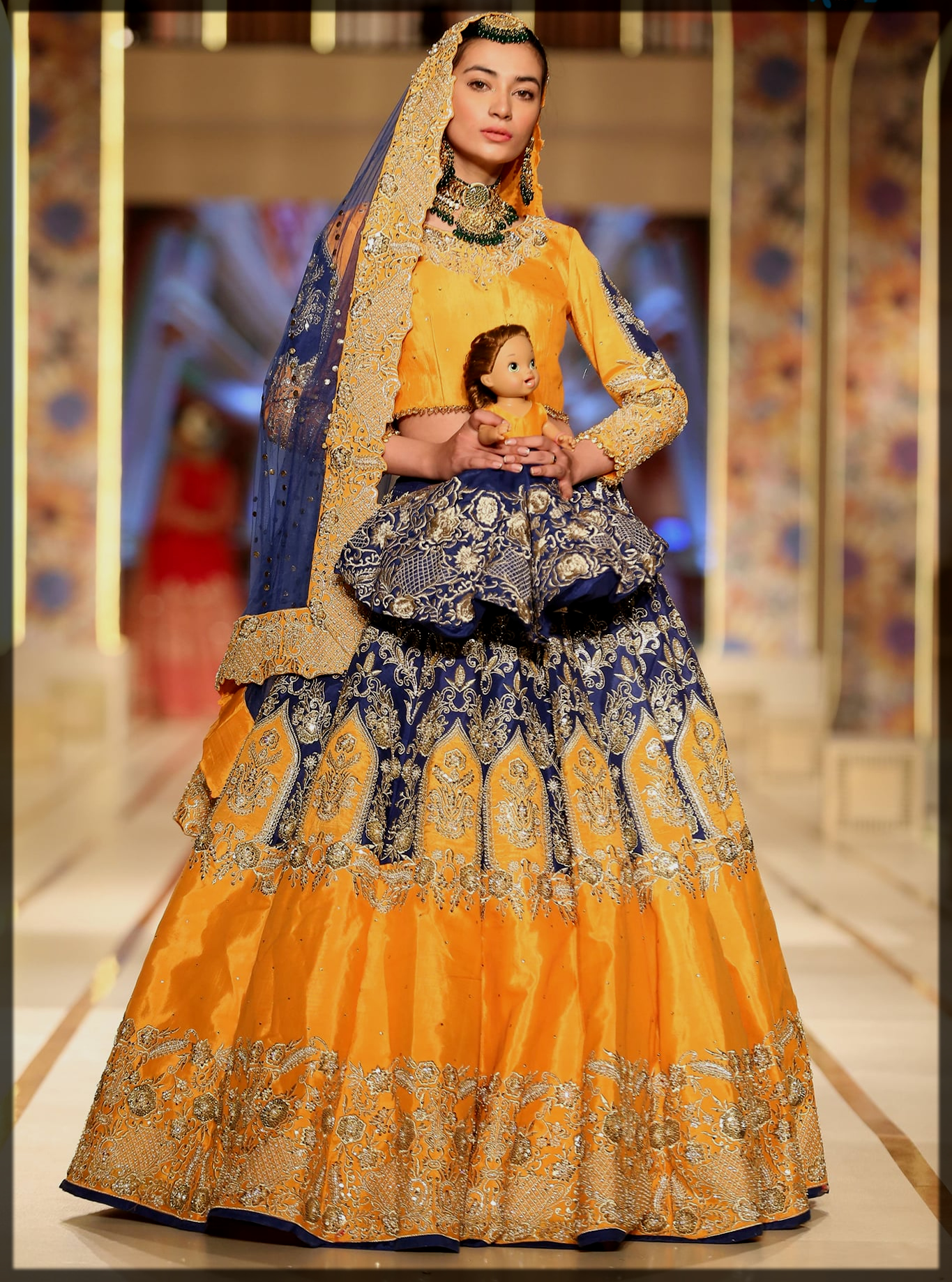 dazzling bhaiya bridal couture week collection