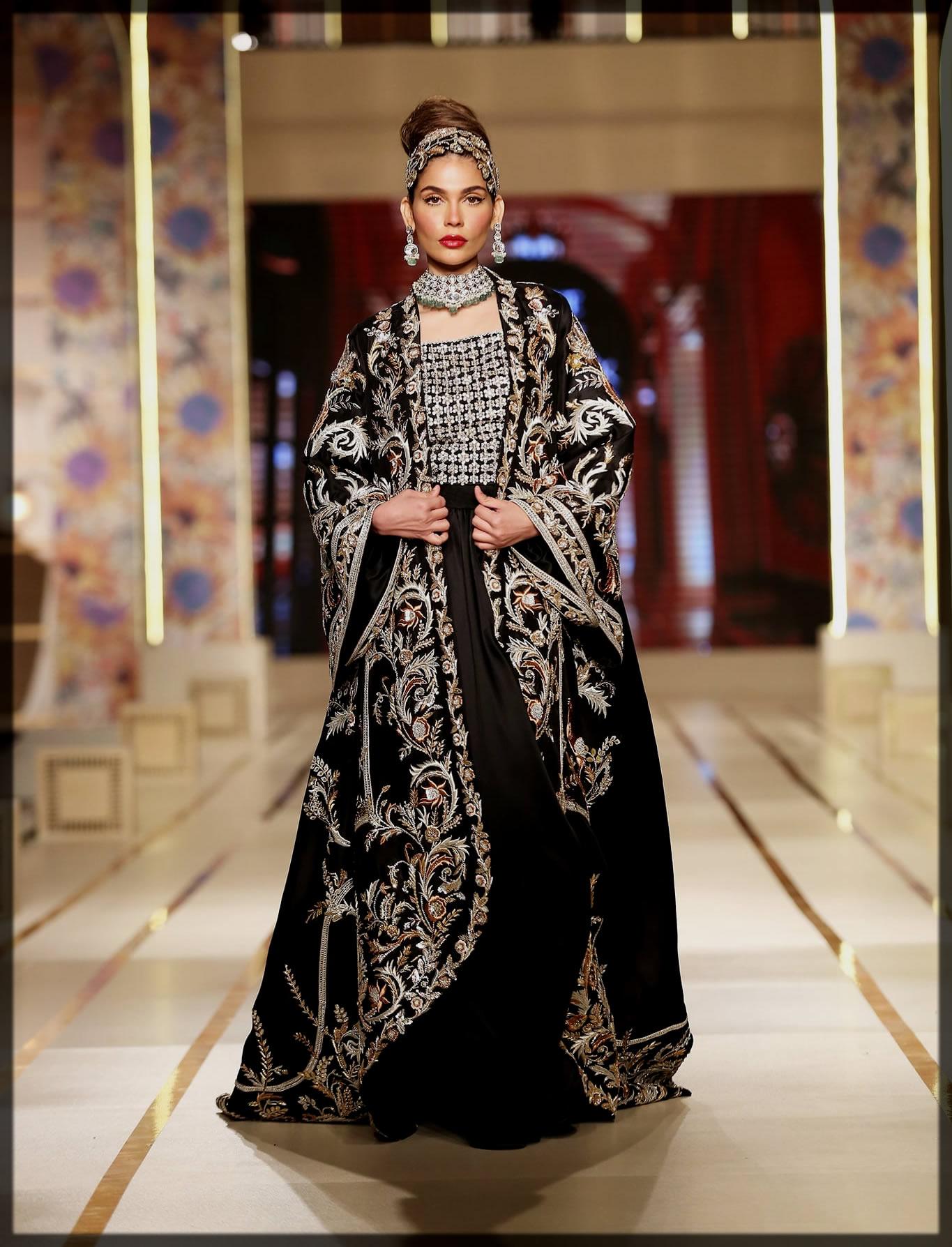 dazzling black Sable vogue dress for women