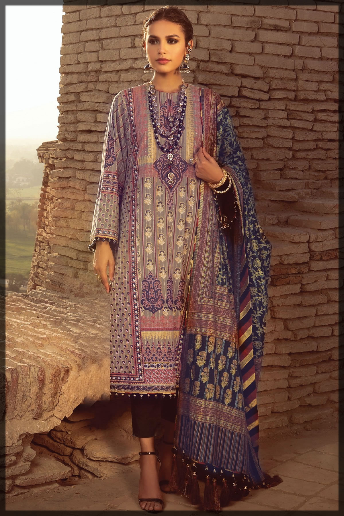 festive cotton zari suit