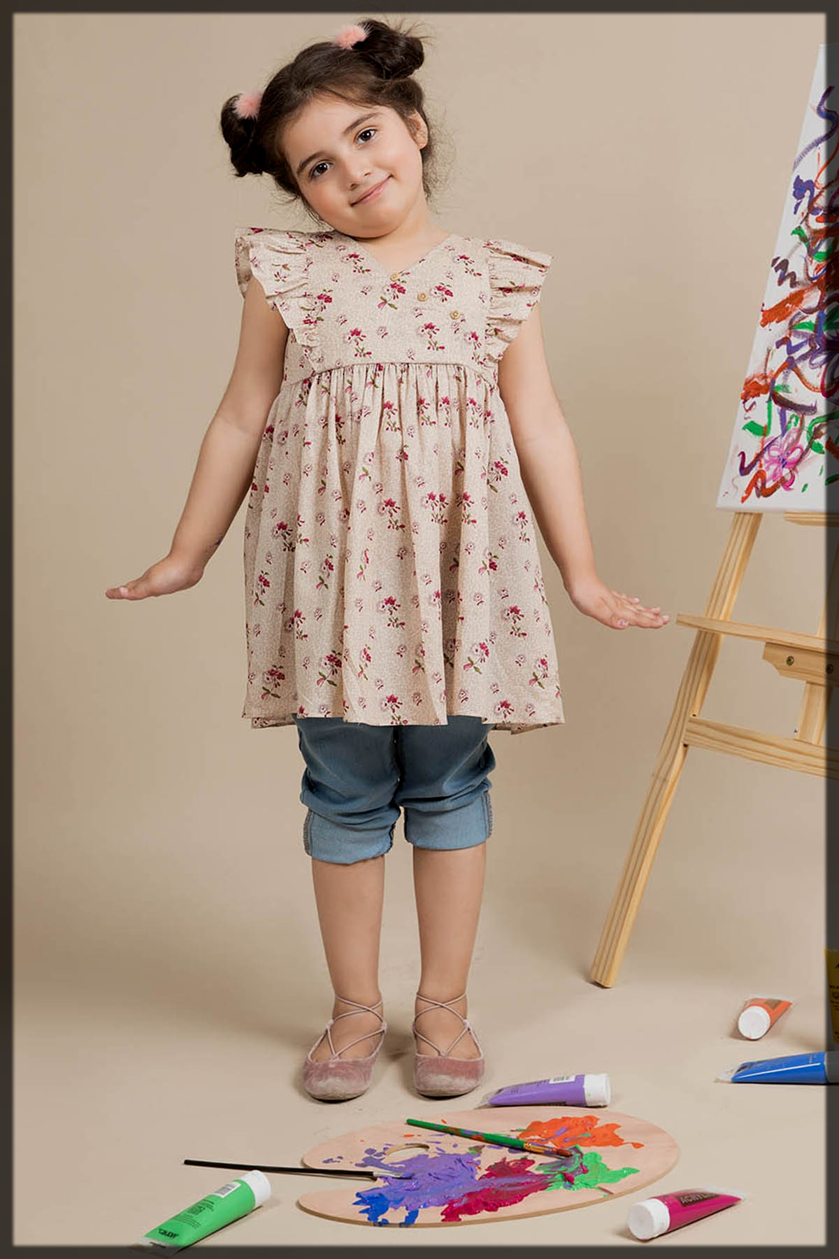 floral pattern summer frock for teens
