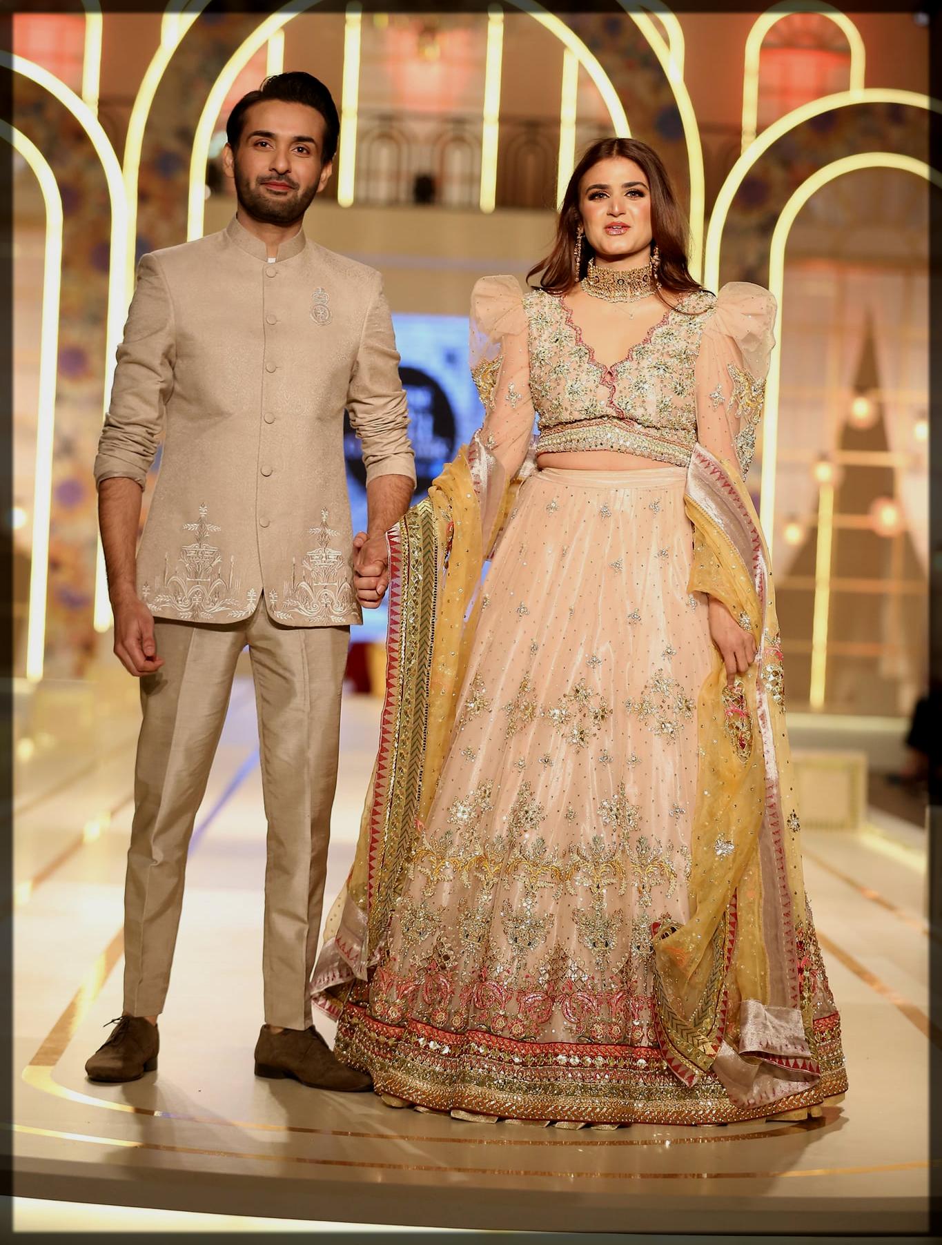 hira mani and affan waheed at Bridal couture week