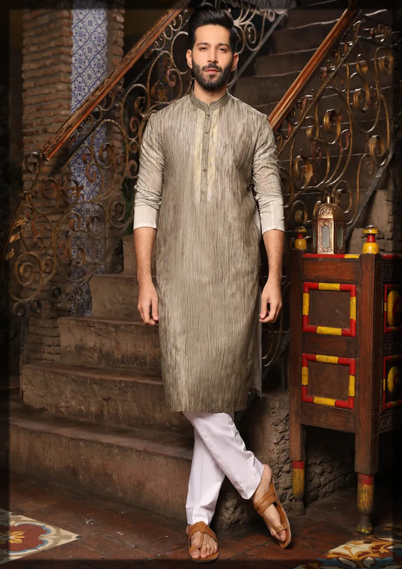light olive green lining kurta