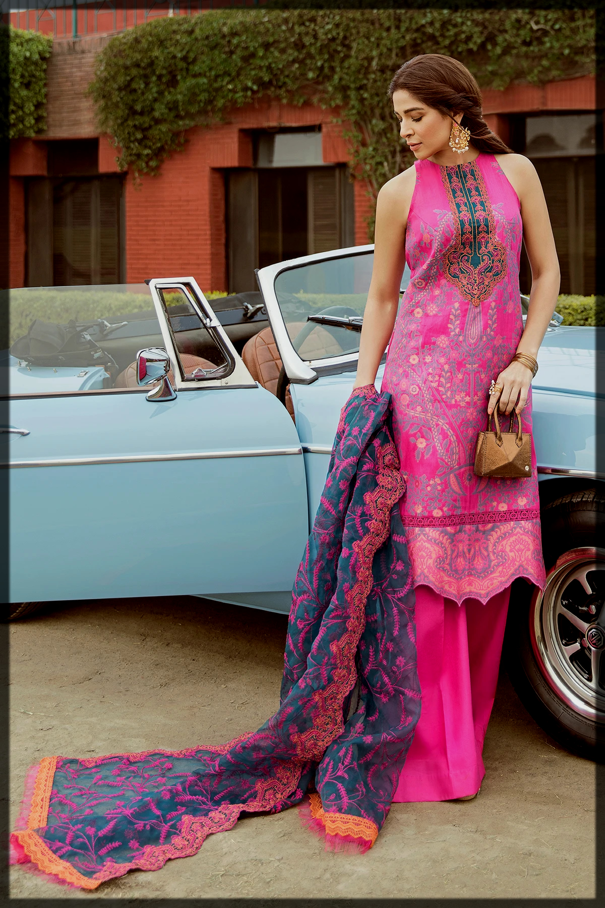 lovely pink summer outfit for women