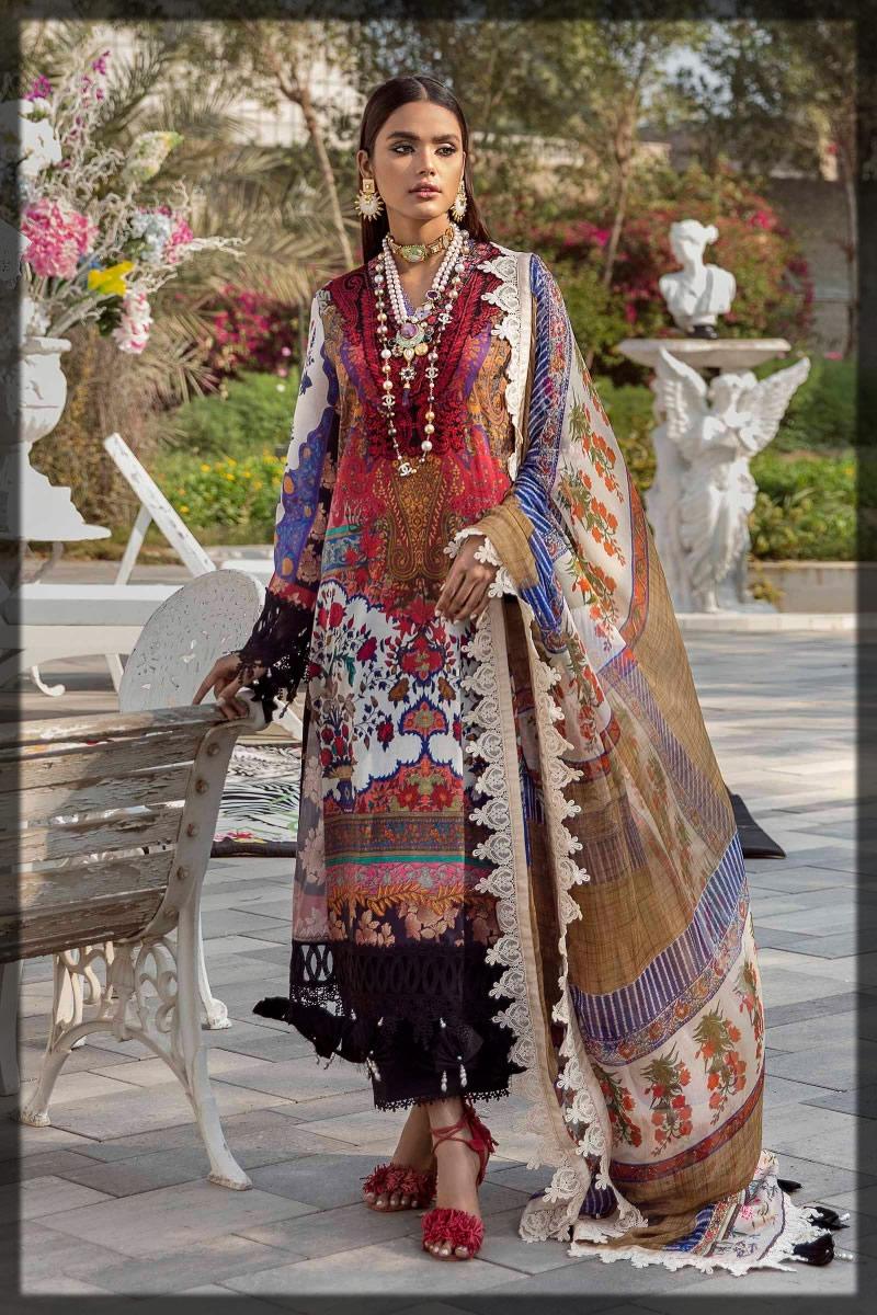 multi-colored lawn dress