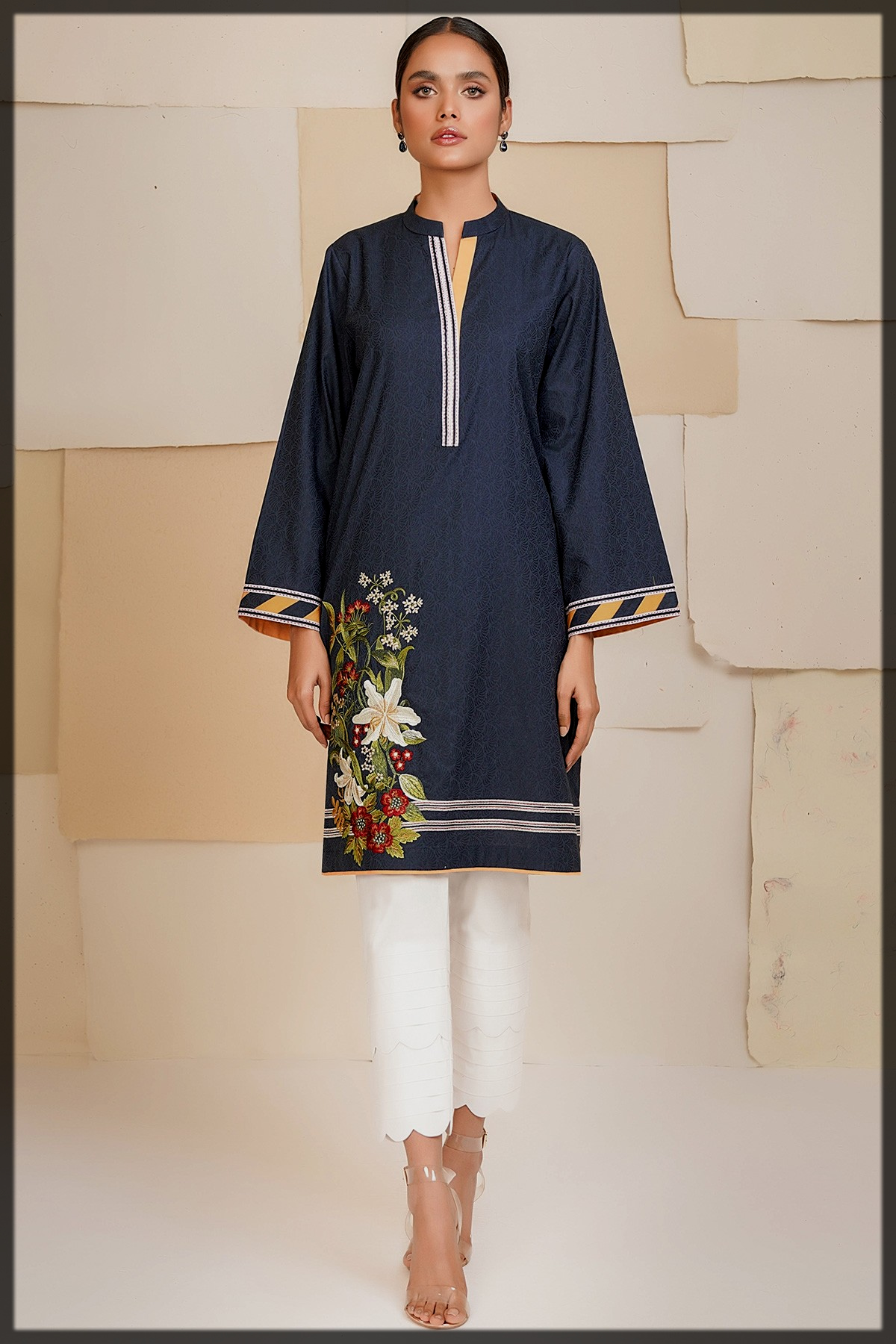 nicely decorated kurti for women