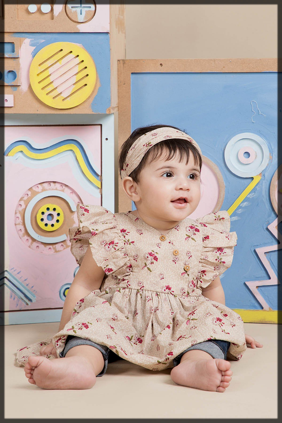 printed lawn dresse for kids