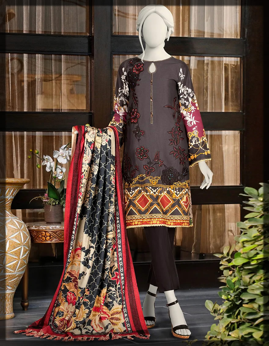 ready to wear black embroidered dress