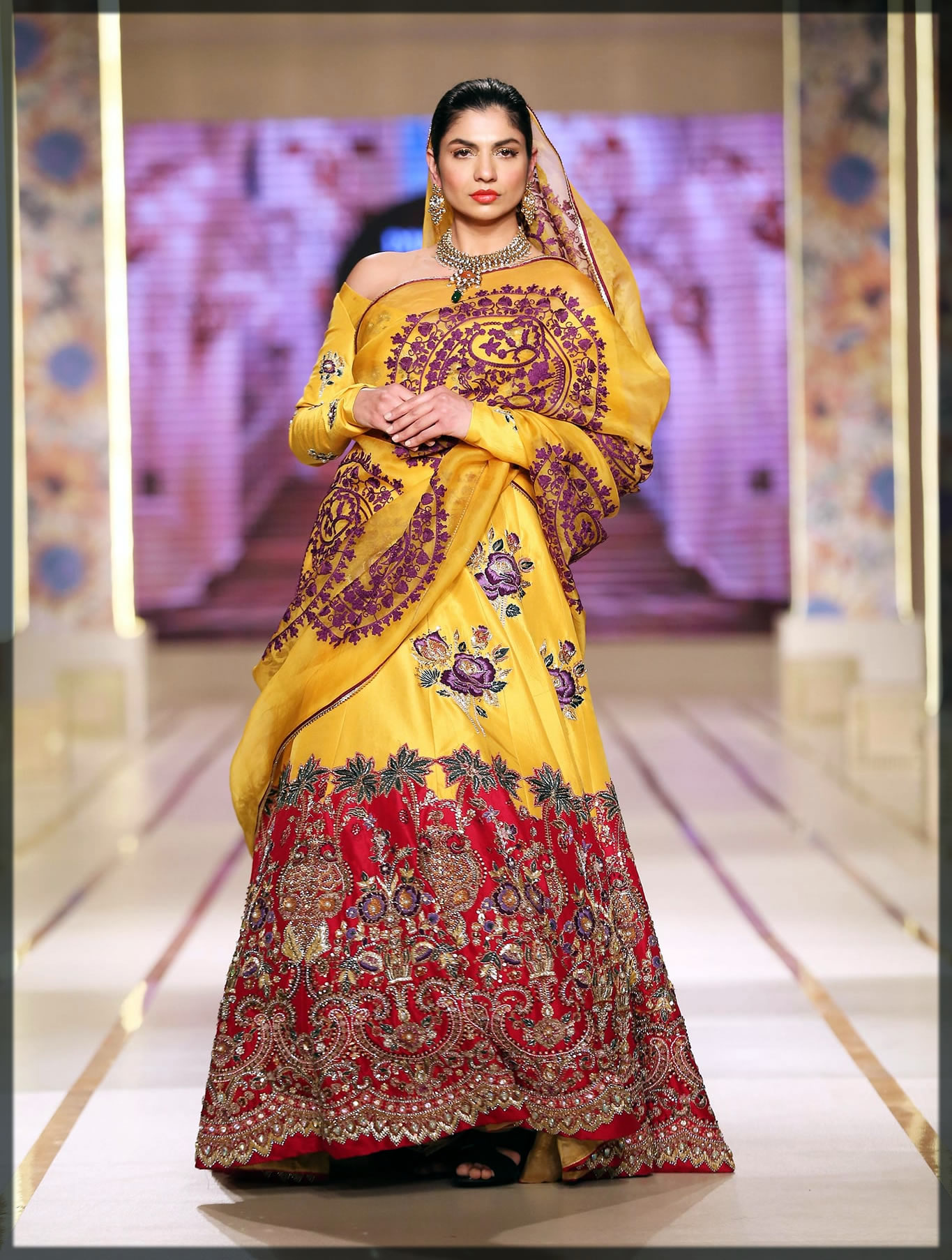 rich bridal dress by ali xeeshan