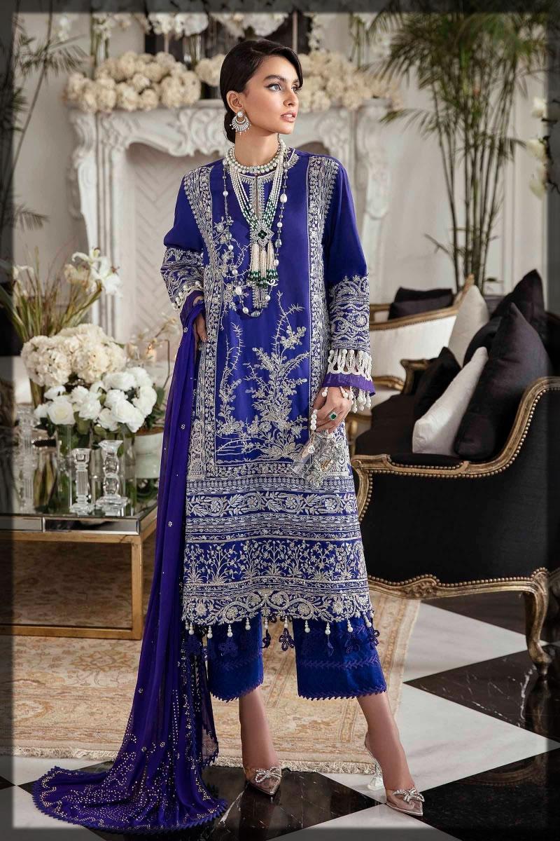 royal blue premium lawn suit