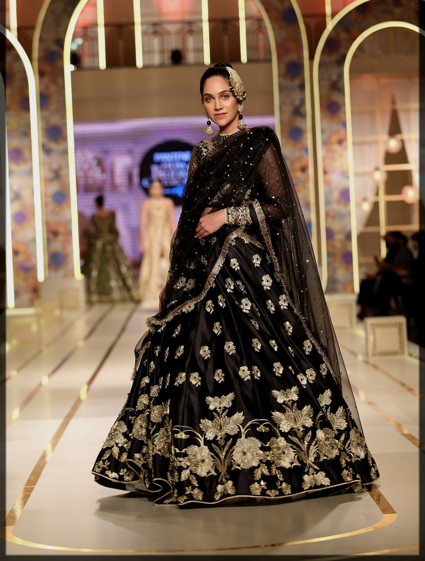 stunning black bridal dress
