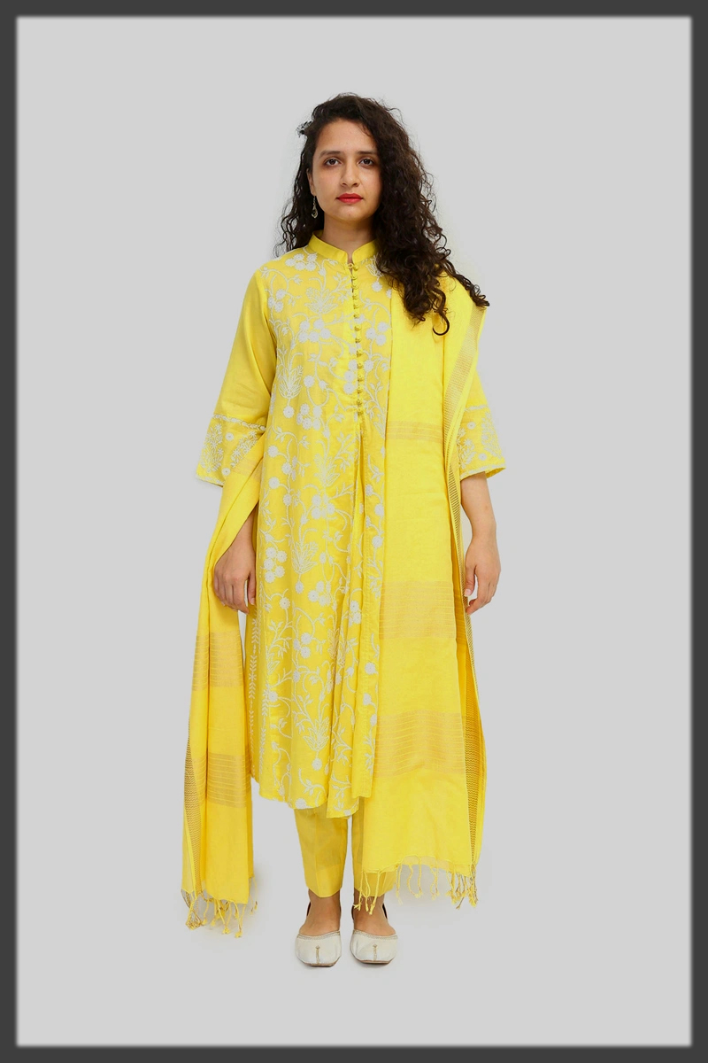 summer yellow suit for women