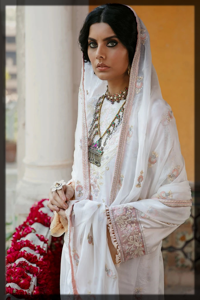 white shaded motifz winter collection for women