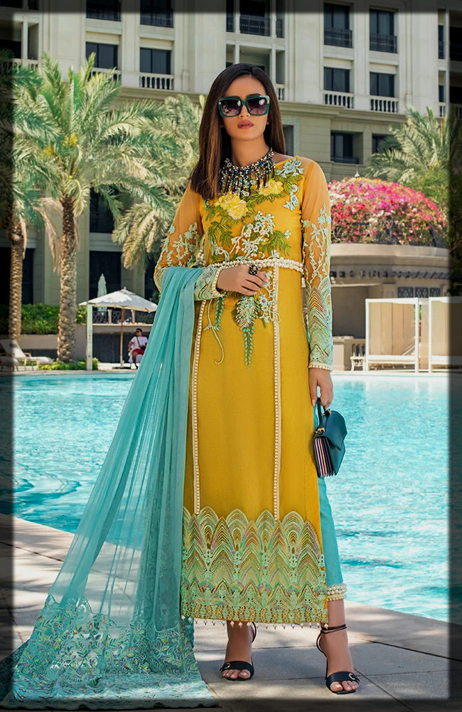 3 Piece Embroidered Luxury Lawn Collection