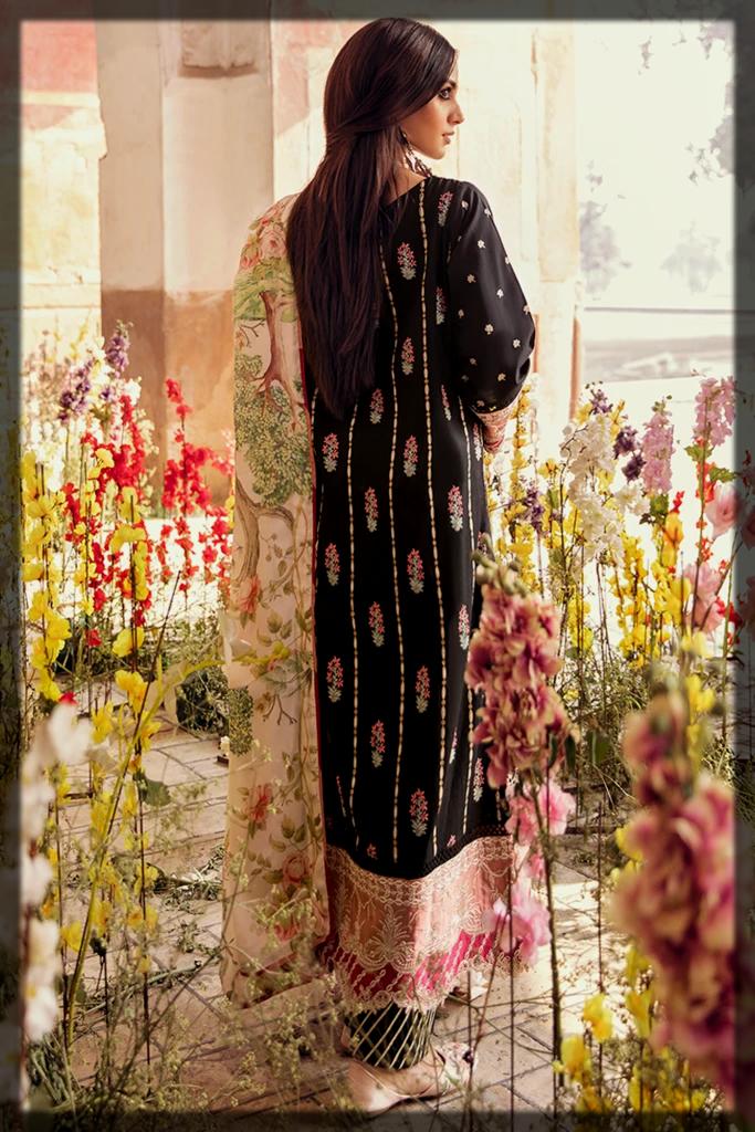 Black QalamKar Luxury Lawn Collection