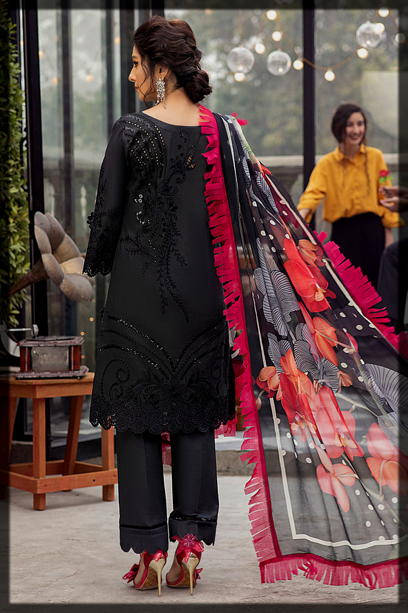 Black and Red Summer Lawn Suit by Mushq