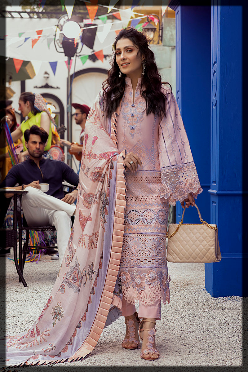 Chintz Rose Luxury Lawn Suit by Mushq for Young Girls