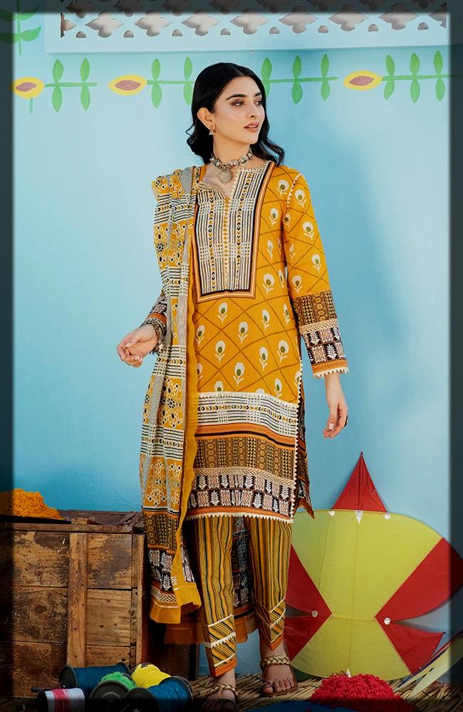 Chunri Printed Lawn dress for women