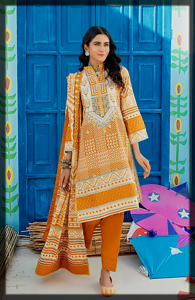 Chunri Printed Lawn dress