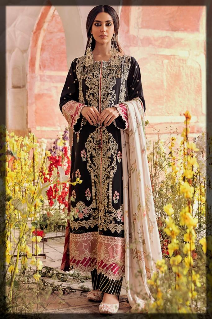 Classy Black QalamKar Luxury Lawn Collection