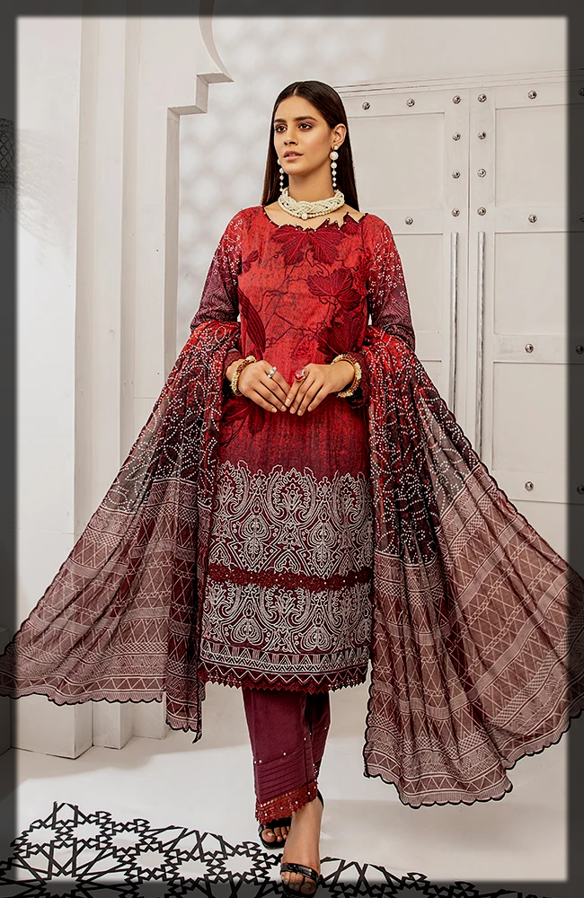 Coco Digital Embroidered Lawn Group by Alzohaib