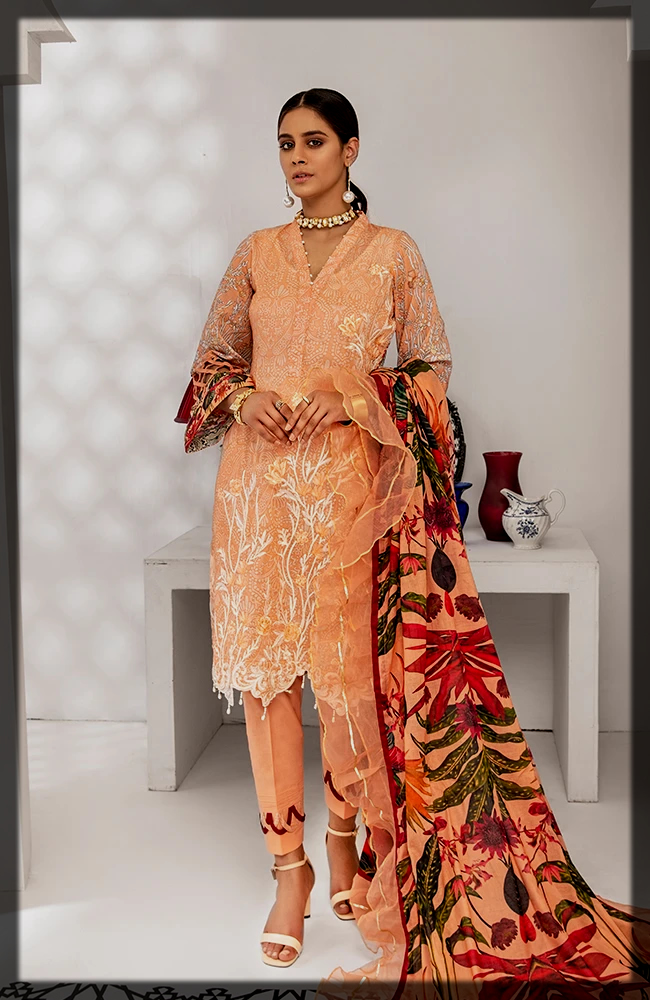 Digital Printed Lawn Shirt with cotton trouser
