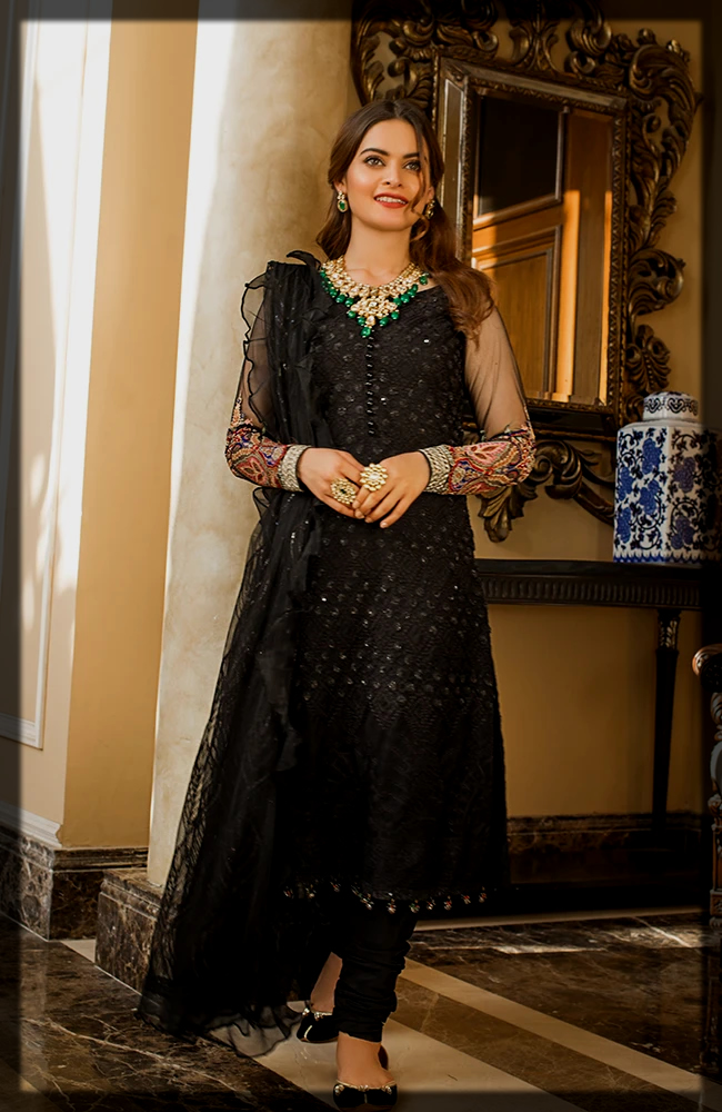 Embroidered Organza by Alzohaib