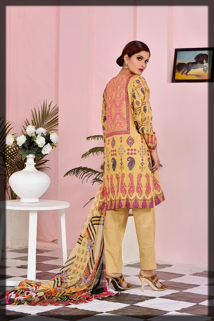 Embroidery Printed Lawn 3PC suit