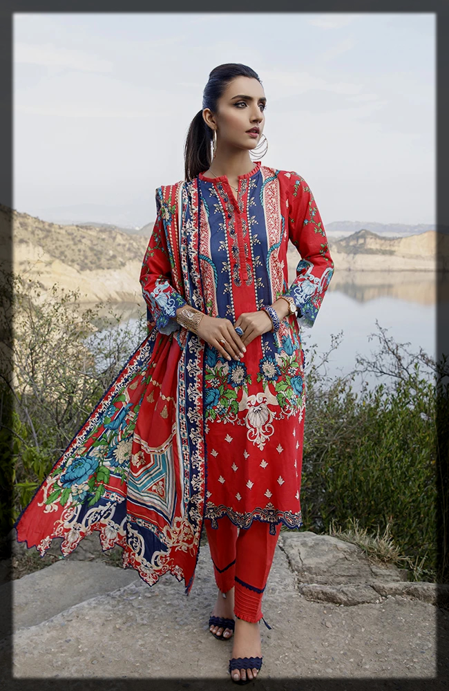 Monsoon Digital Printed Lawn Collection by Al zohaib