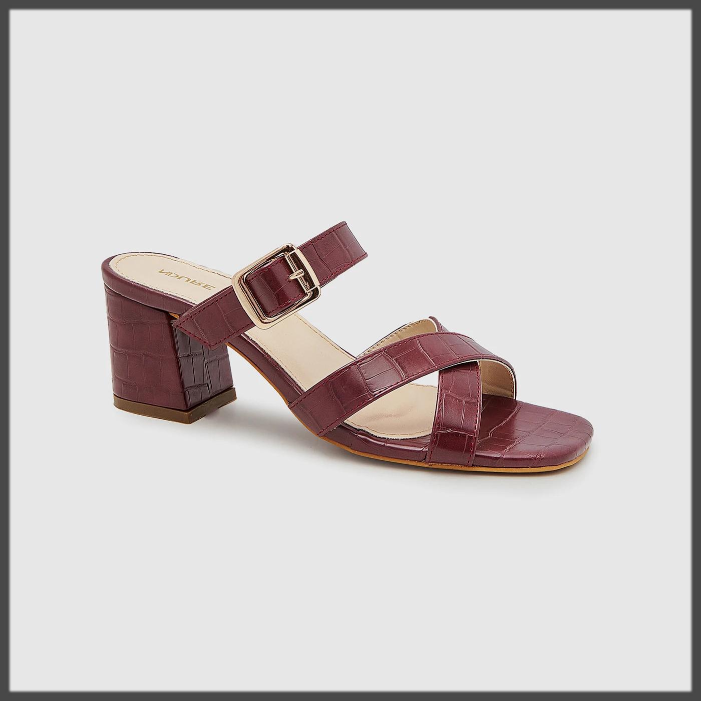 Multi-Strap Block Heels for Women
