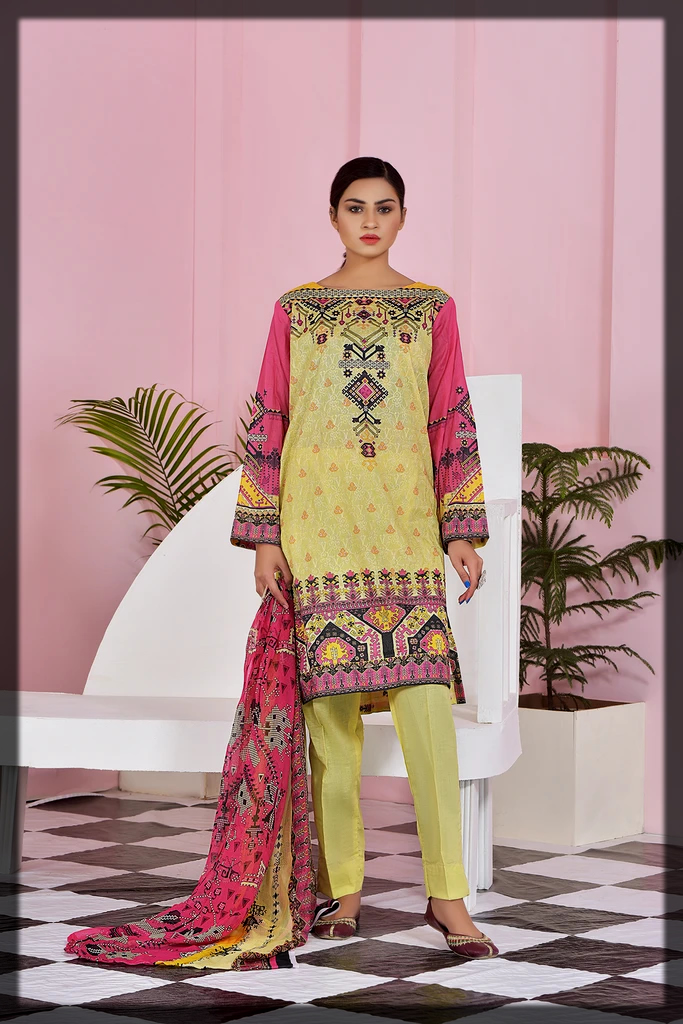 Printed Chicken Kari 3PC suit