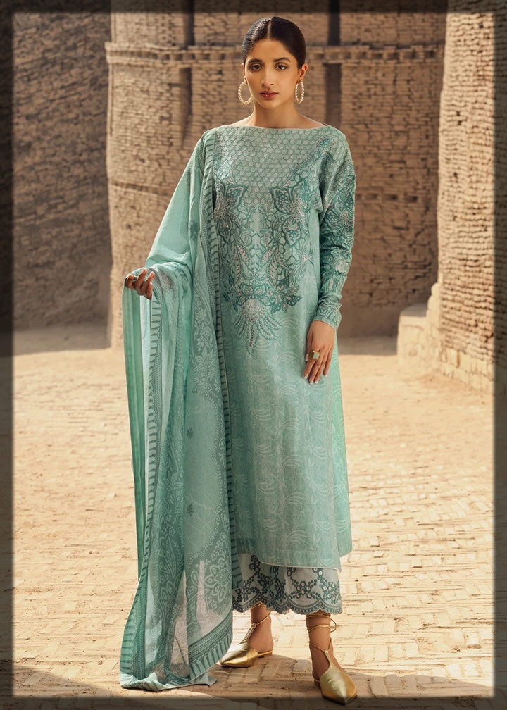 Skylight Embroidered Lawn Dress