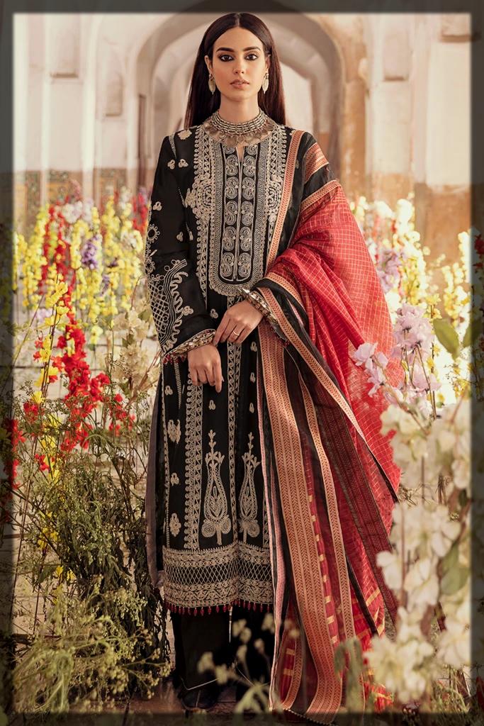 Sleek Black Summer Luxury Dress by QalamKar
