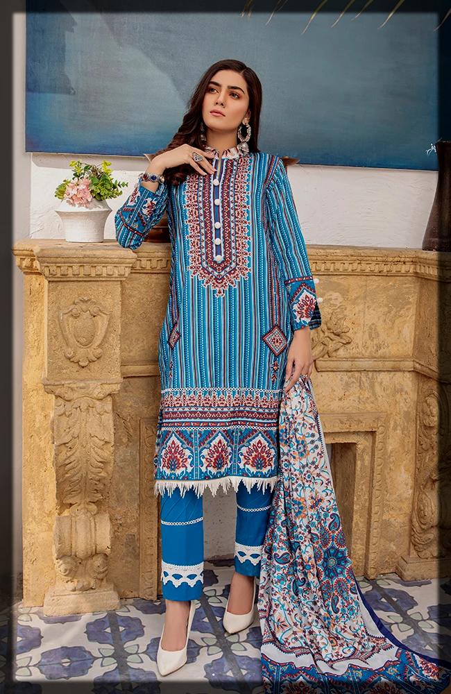 Unstitched Anum Lawn Collection by Al zohaib Textiles