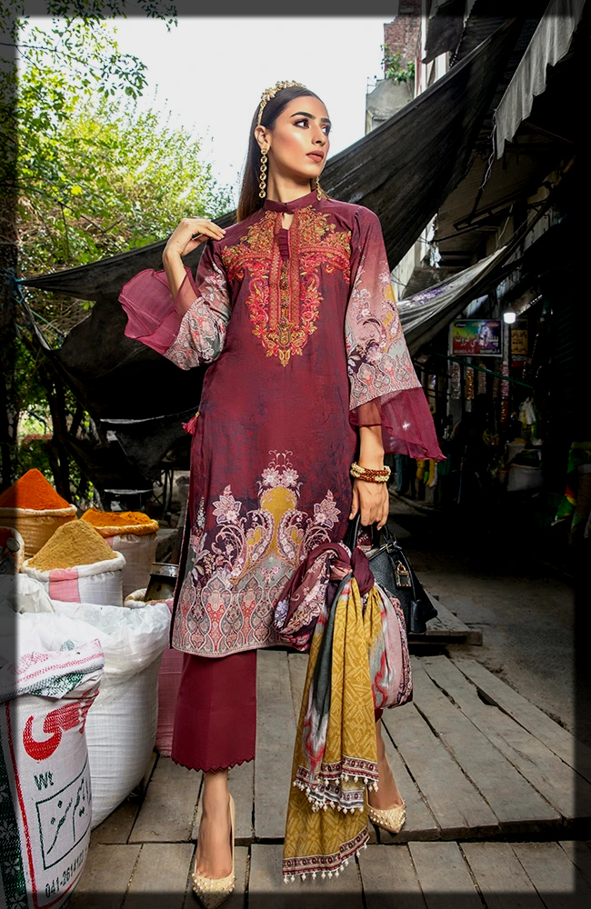 Unstitched Embroidered Collection of Alzohaib