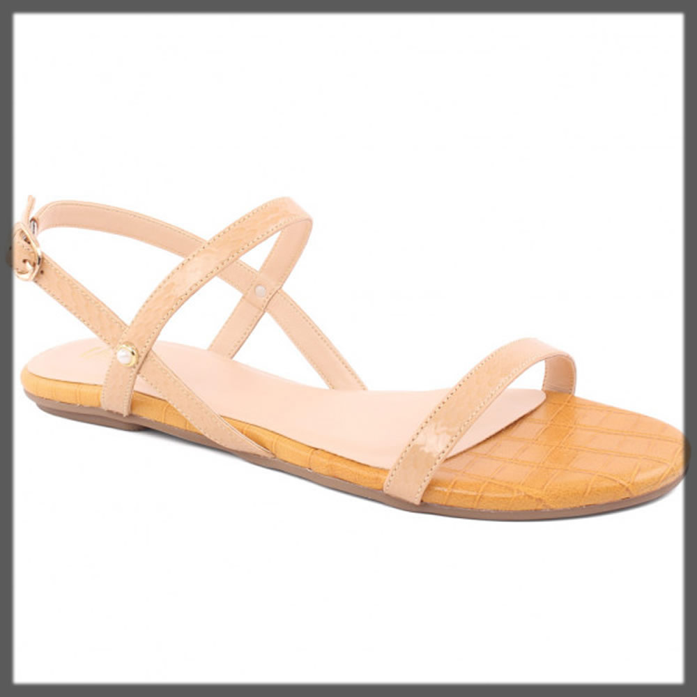 beige buckled sandals