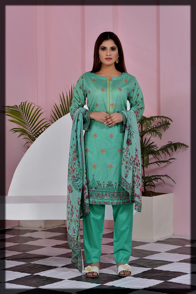 bright green Embroidery Collection for Women
