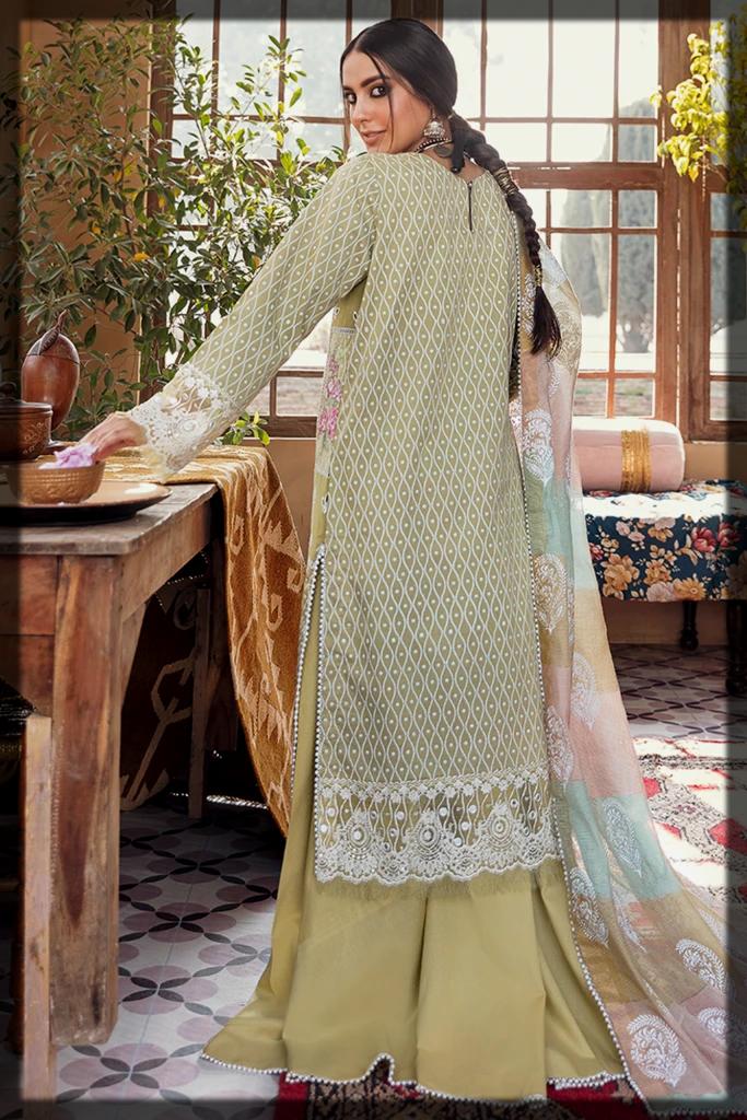 chic summer suit by qalamkar
