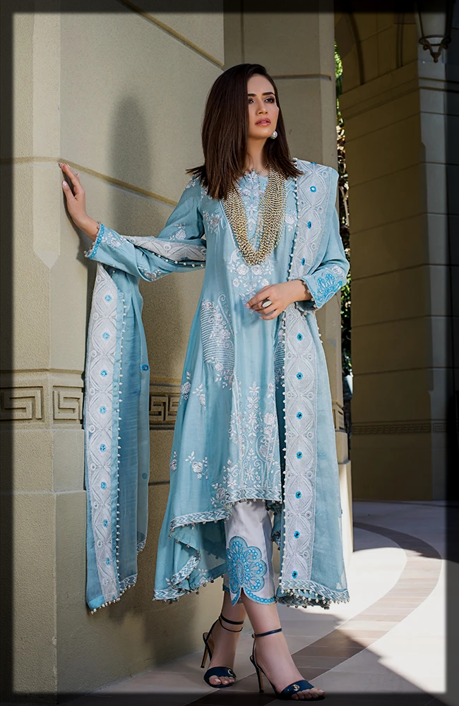 classy 3 Piece Embroidered Luxury Lawn Collection