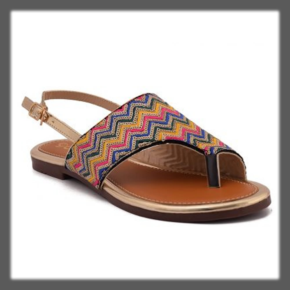 colorful chappal for women