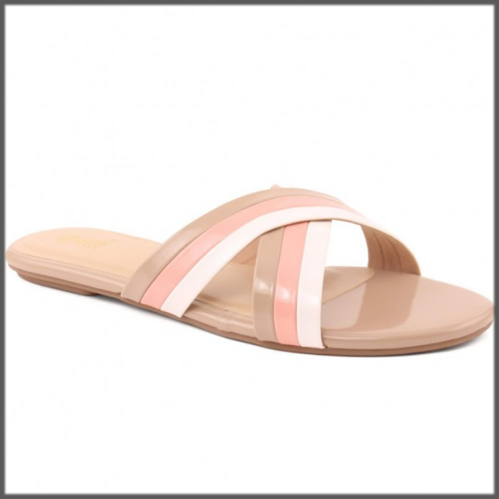 criss cross casual slipper