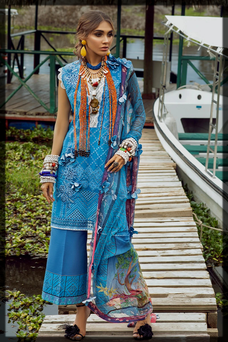 dazzling blue summer outfit by mushq