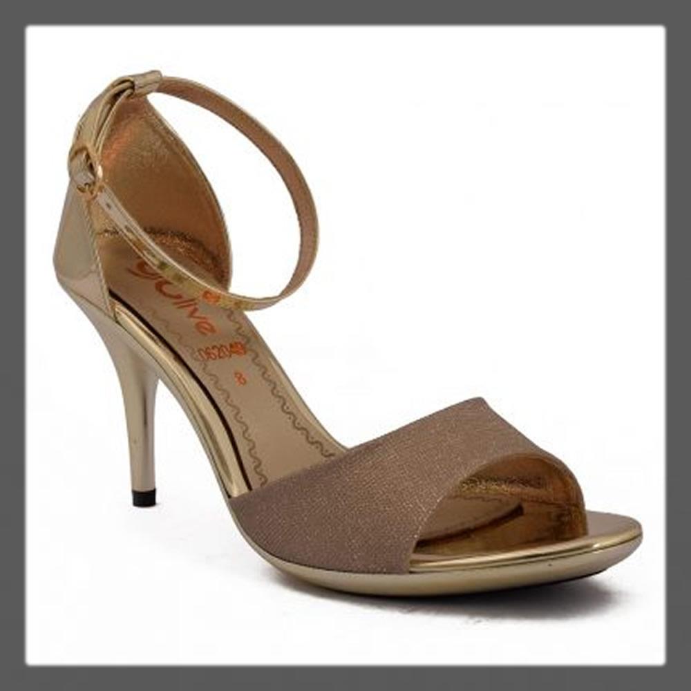 fancy open golden heels