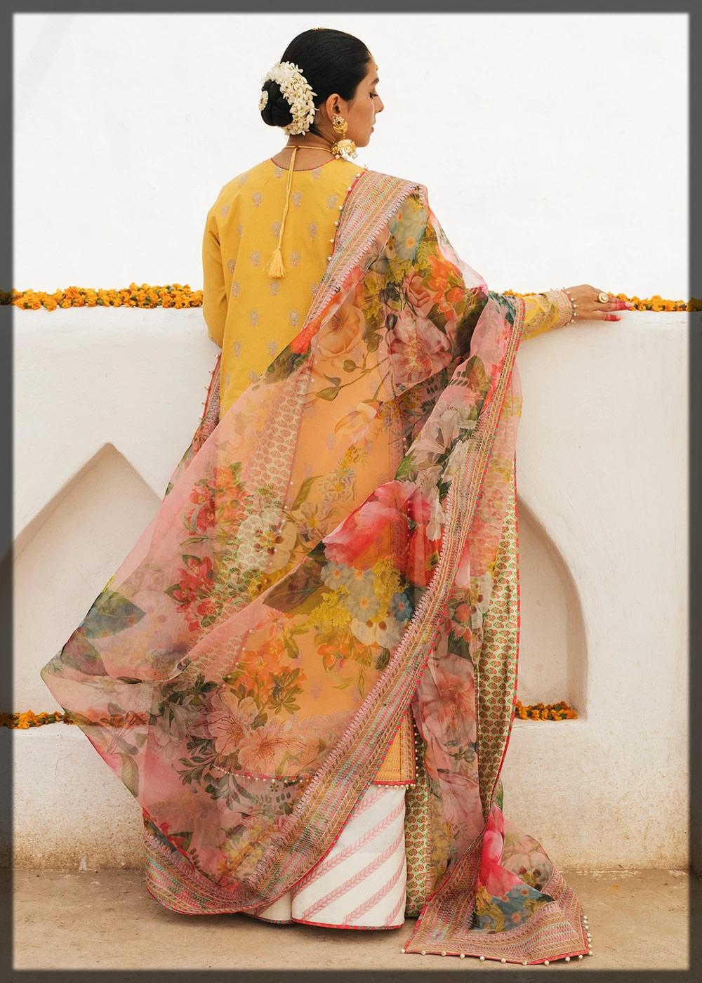 floral printed lawn dress