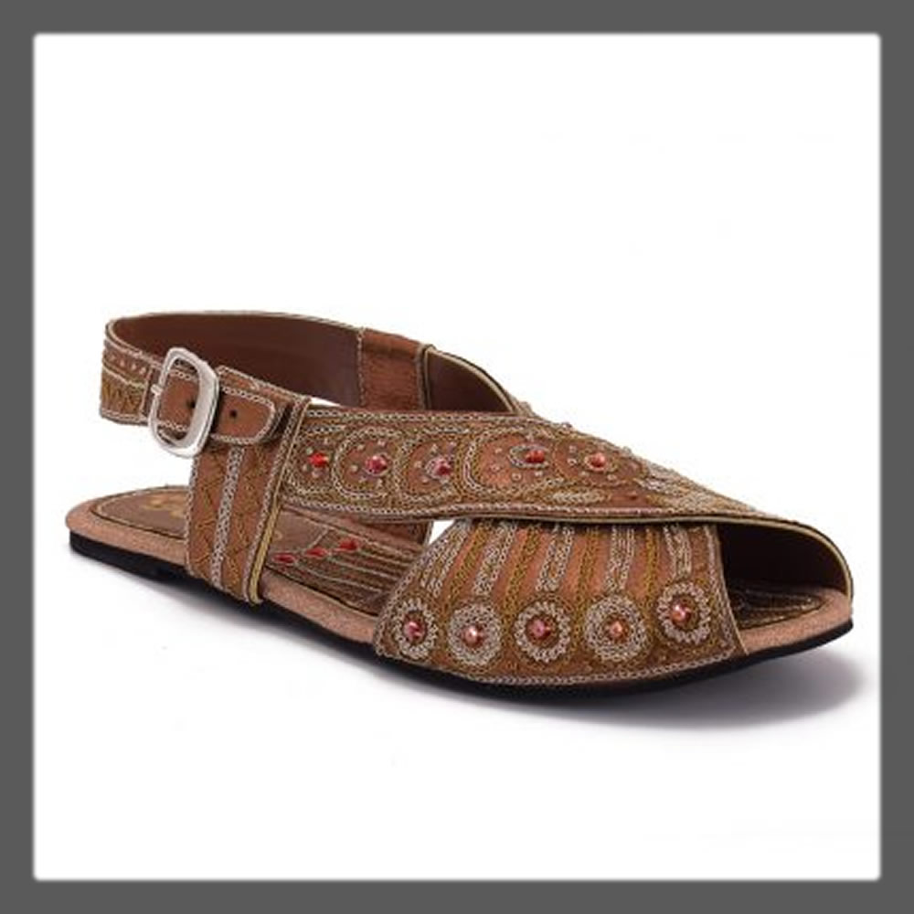 funky brown sandals for women